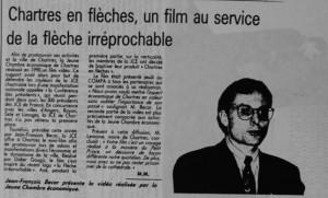 Chartres en flèche sur une cassette vidéo 1991