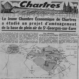 Projet d'aménagement du plan d'eau de Saint Georges sur Eure 1970